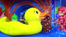PJ MASKS Tub Bath Time Finger Paint Soap Colors, Giantdsa Rubber Duck Superhero IRL Toy Surpri