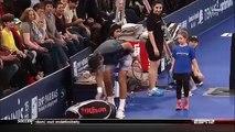 Duel entre Rafa Nadal / Ben Stiller VS Juan Martin Del Potro / une fillette du public