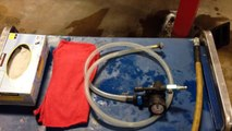Using the Airft cooling system refilling tool for radiator service