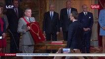 Emmanuel Macron faitGrand-maître de l'ordre national de la Légion d'honneur