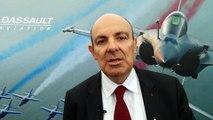 Eric Trappier, PDG Dassault Aviation, en visite au meeting aérien de Mérignac