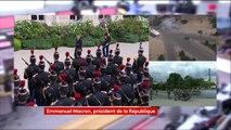 Investiture d'Emmanuel Macron : Marseillaise, honneurs au drapeau, revue des troupes, coups de canon