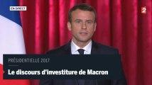 Emmanuel Macron a prononcé son premier discours de président
