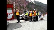 Col d'Izoard : le rocher tombe sur la voiture, un blessé
