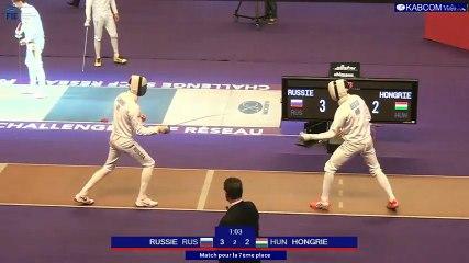 SNCF Réseau 2017 - Epreuve par équipes - Match pour la 7e place RUSSIE-HONGRIE