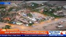 Inundaciones por temporada de lluvias en Chile dejan al menos dos muertos y más de 2.000 mil damnificados