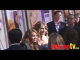 Miley Cyrus and Taylor Swift at Hannah Montana The Movie PREMIERE
