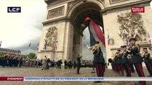 Emmanuel Macron devant la tombe du soldat inconnu
