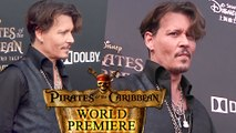 Johnny Depp STUNS At 'Pirates of the Caribbean: Dead Men Tell No Tales' World Premiere