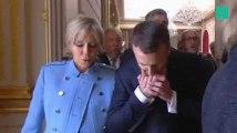 Le jour de son investiture, Emmanuel Macron a rendu à Brigitte son baiser du deuxième tour
