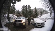 Un ourson s'est planqué dans sa voiture... Peur de sa vie!