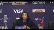 Salvador Sobral says the F word in Eurovision Press Conference - Salvador solta um foda-se