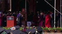 Bill Clinton gives advice to graduates