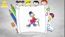 Donald Duck Drawing Animation _ How To Draw Characters From Donald Duck Cartoon Movies