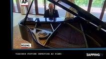 Vladimir Poutine : son étonnante pause musicale au piano (vidéo)