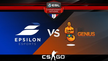CS:GO - Epsilon vs BeGenius - Cache - ESL Championnat National - Summer 2017 - Map 1