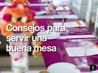Consejos para servir una buena mesa