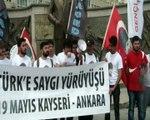 Kayseri Haged 'li ve CHP gençlik kolları üyelerinin  Ata 'ya saygı yürüyüşü