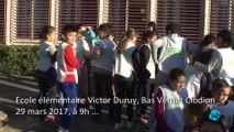 """Ramassage déchets dans le quartier"""" par les élèves de l'école Victor Duruy Bas Vernet Clodion"""