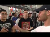 Michael Perez, Hector Tanajara, Joshua Franco came to support Mikey Garcia - EsNews Boxing