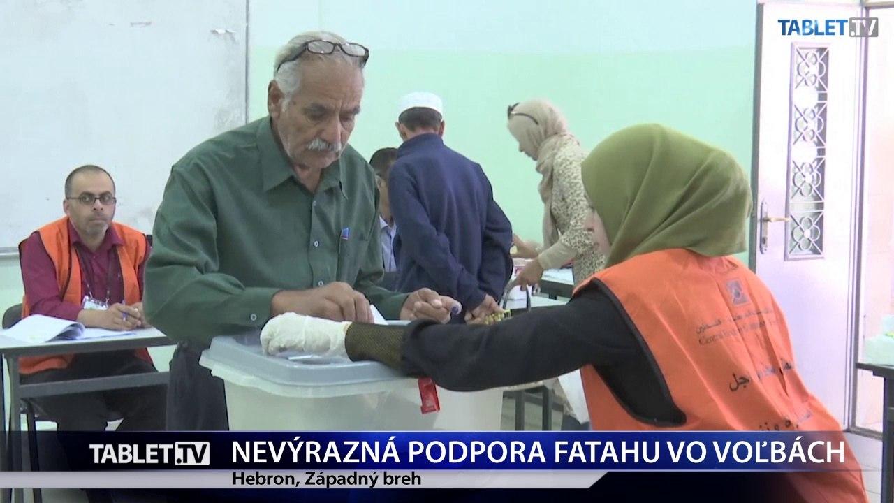 Vládnuci Fatah dostal v palestínskych komunálnych voľbách iba nevýraznú podporu