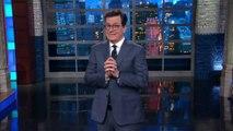 Stephen Colbert Begs Trump Not to Fire Sean Spicer | THR News