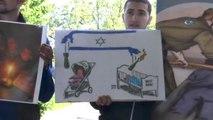 Viyana'da Filistinli Tutukluların Açlık Grevine Destek Gösterisi