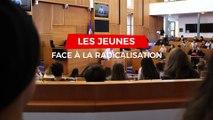 Débat sur la radicalisation organisé par le groupe PS du Parlement bruxellois avec les jeunes de 4 écoles bruxelloises.