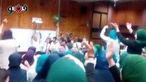 رقص طلاب إعلام القاهرة داخل مدرج على أغنية «يا عبد السلام»