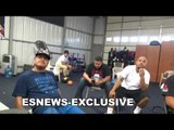 Robert Garcia and Pita On Anthony Joshua and Mikey Going all the way up to 160 EsNews Boxing