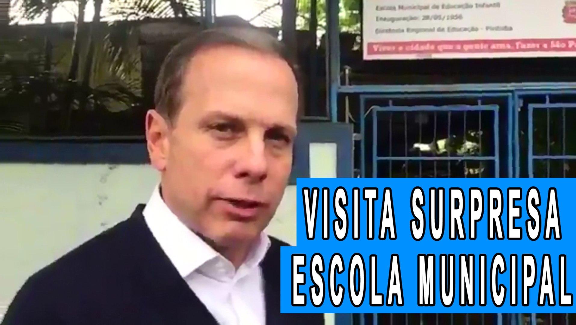 João Doria faz visita surpresa em escola municipal na Vila Romana - SP (EMEI Ana Maria Poppovic)