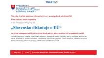 NAŽIVO od 14:00: Slovensko diskutuje o EÚ