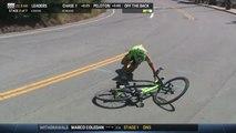 Le cycliste Toms Skujins chute lourdement et se retrouve KO