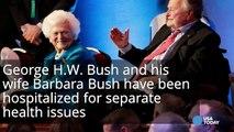 George H.W. Bush in ICU, Barbara Bush also hospitalized-HtcRTci