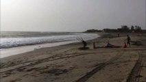 Session surfkite à Toubab-Dialaw - Sénégal avec Alexis 13 mai 2017