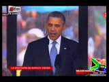 FUNERAILLES DE MANDELA - Discours de Barack Obama
