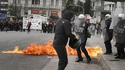 Греція: загальний страйк, акції протесту та сутички з поліцією