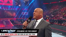 Kurt Angle reveals how Universal  Champion's challenger will be determined- Raw, May 15, 2017