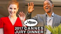 70th Cannes Film Festival Jury Dinner Will Smith, Jessica Chastain 2017 Cannes Film Festival