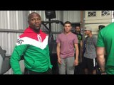 floyd mayweather at RGBA in riverside ca - EsNews Boxing