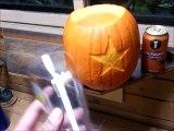 """Pumpkin Carving """"Pumpkin keg"""" ハロウィンかぼちゃ「カボチャビールサーバー」"""