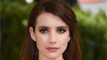 Emma Roberts Debuts Dark Brown Hair