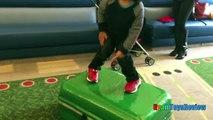 Ryan on the Airplane going to DisneyLand Egg Surprise Toys Paw Patrol Ryan ToysReview