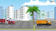 Learn Colors & Vehicles Police car w Ambulance & Racing Cars! 3D Animation Cars & Truck cartoons
