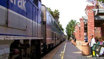 Amtrak Trains - FAREWELL TRAIN HORNS IN SAN JUAN CAPISTRANO, CA