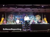 DEONTAY WILDER DEFENDS CHRIS ARREOLA: WHO ARE THE FANS TO JUDGE ARREOLA? DESERVES TITLE SHOT
