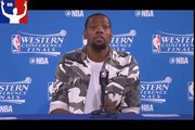 Kevin Durant Postgame Interview Spurs vs Warriors Game 2 May 16, 2017 NBA Playoffs