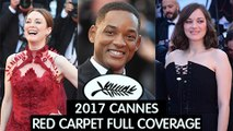 70th Cannes Film Festival Red Carpet   Marion Cotillard, Will Smith   2017 Cannes Film Festival