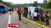 Muğla-Denizli yolunda otobüs devrildi: 16 yaralı