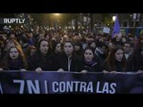 Feminists take to the streets of Madrid to denounce gender-based violence
